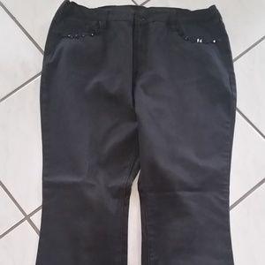 NWOT Diane Gilman Black Jeans